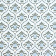 Gutermann Fabric Ornamental Palm French Cottage White - per quarter metre